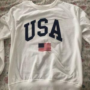 long sleeved U.S.A. shirt